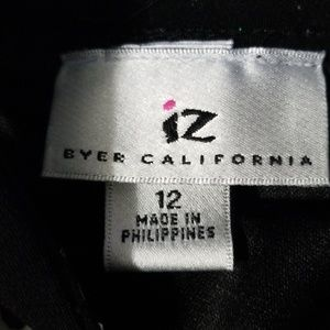 Byer California Dresses - Short black and white polka-dot dress